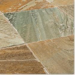 Roterra Slate Tiles Golden White Quartzite 12 X12 X3 8