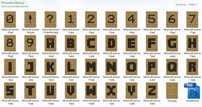 Printable Minecraft Alphabet Bunting Templates Craft