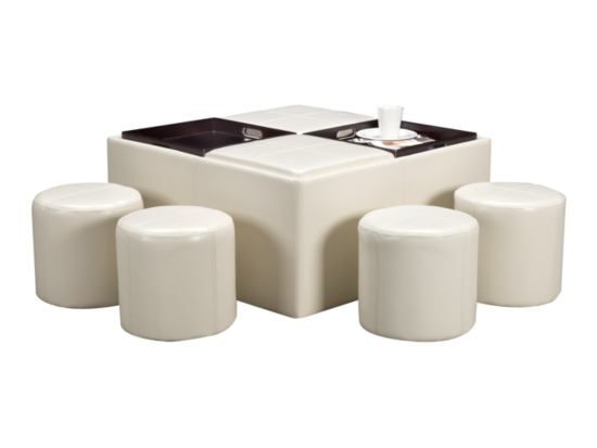 Pleasing Axis White 5 Pc Ottoman Package American Signature Unemploymentrelief Wooden Chair Designs For Living Room Unemploymentrelieforg