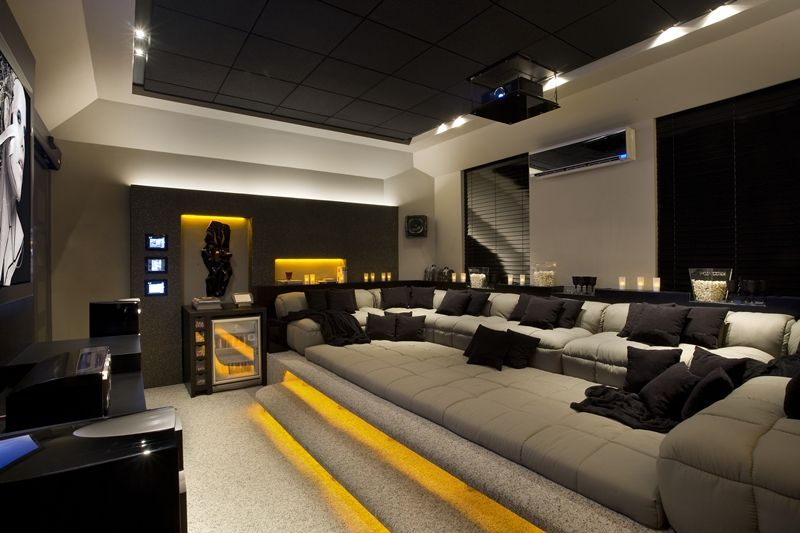 projeto interiores home theater - Home Cinema Decor