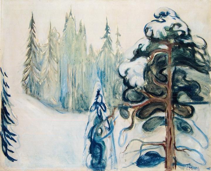Edvard Munch Vinter 1899 1900 Olje Og Tempera Pa Lerret 65 X 79 5 Cm Maleri Kunst Inspirasjon Van Gogh