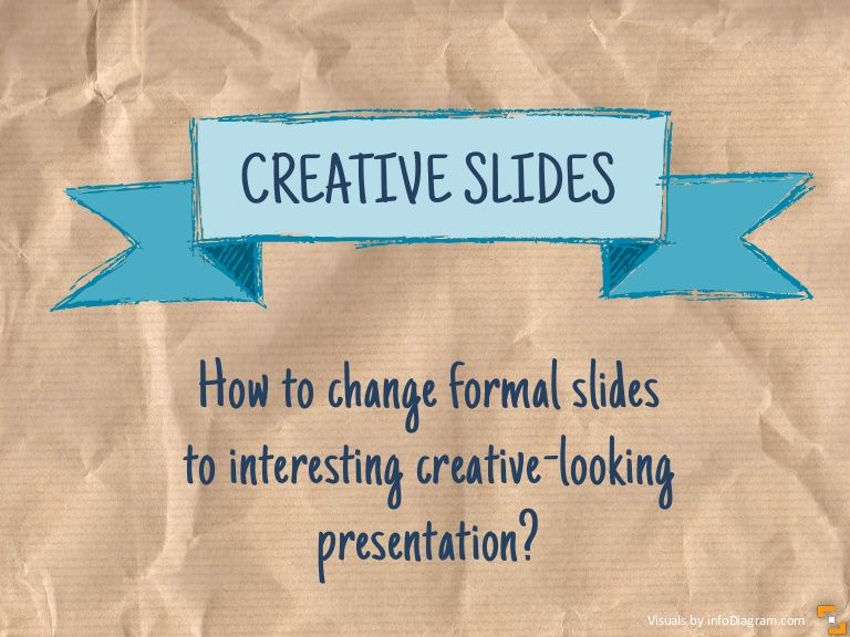 slideshare on showing creativity on presentation slides by adding