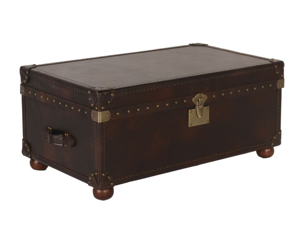 100% Quality Old Steamer Trunk Antique Furniture Edwardian (1901-1910)
