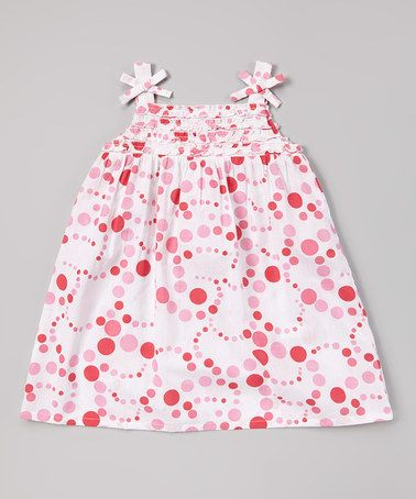 Look what I found on #zulily! Pink Polka Dot Patch Frill Dress - Infant, Toddler & Girls #zulilyfinds