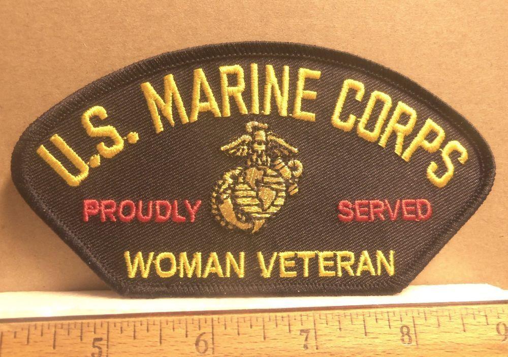 "2/"" x 4 1//4/"" USMC US MARINE CORPS MARINES Gold on Red Iron on Sew on Patch"