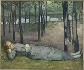 Emile Bernard (1868-1941)  Madeleine in the Bois d'Amour  1888  Oil on canvas  H. 1.38; W. 1.63 m