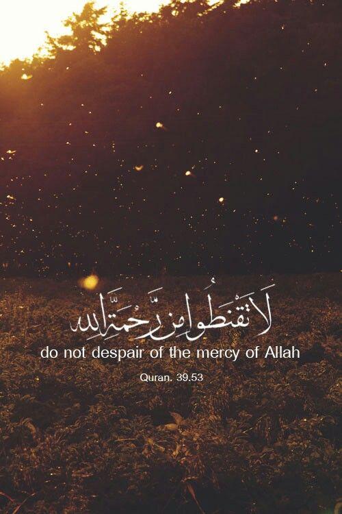 لا تقنطوا من رحمة الل ه Quran Quotes Love Quran Quran Quotes Verses