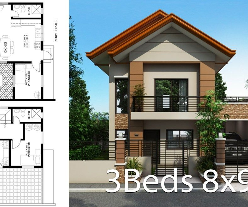 Small Home Design Plan 5x5 5m With 2 Bedrooms Home Design With Plan House Design Home Design Plan Small House Design