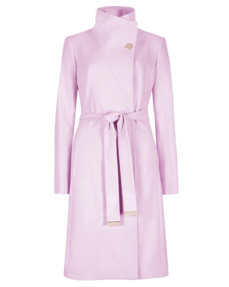 Ted Baker - Aug 2014 - Belted wrap coat - Baby Pink | Jackets ...