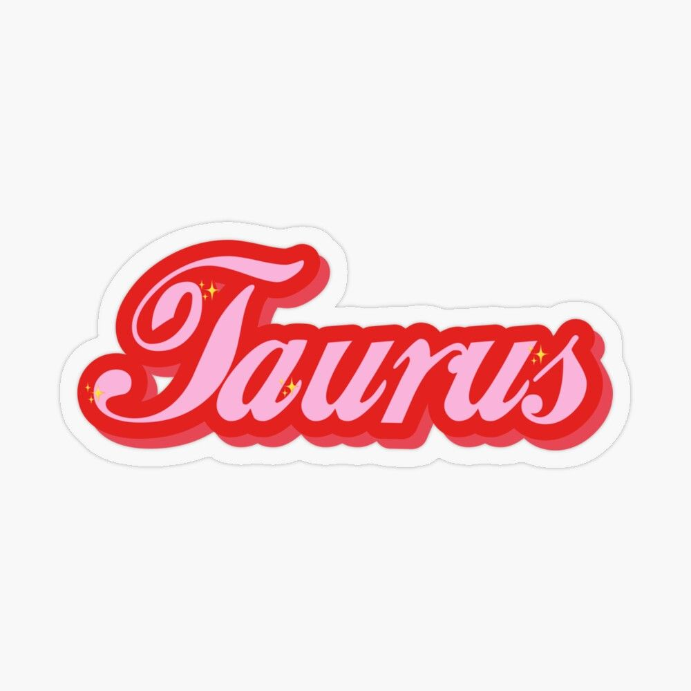 Taurus Vintage Font By Gabyiscool Transparent Sticker By Gabyiscool In 2020 Vintage Fonts Stickers Coloring Stickers