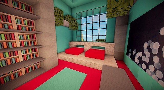 Minecraft bed idea … | Minecraft houses, Minecraft room