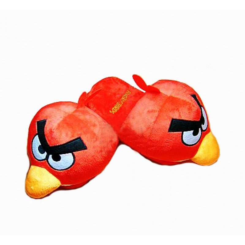Angry birds, indoor slippers for lady and kids, red