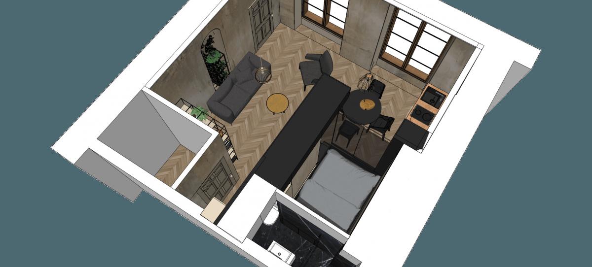 Refurbished Paris Studio Apartment Integrates Storage And Sleeping Space Idesignarch Interior Design Archit Studio Apartment Bedroom Layouts Bed Placement