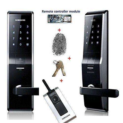 Fingerprint Samsung Shs 5230 Shs H700 Digital Door Lock Keyless Touchpad Security Ezon 2pcs Of Eme Digital Door Lock Door Lock Security Electronic Deadbolt
