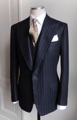 SB Suit Jacket in Flannel Chalk Stripe ©Purwin&Radczun