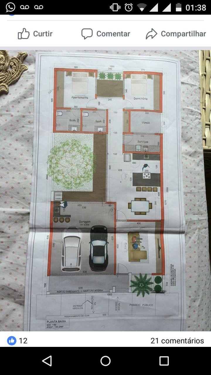 Pin De Roberto Carlos Em Plantas De Casas Com Imagens Planta
