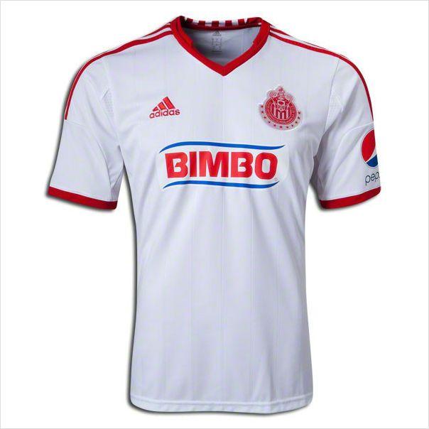 d1c32f98e Mens 2013 14 Chivas de Guadalajara White Away Soccer Jersey Football Shirt  on eBid United States