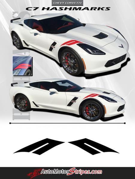 2014-2017 Chevy Corvette C7 Hash Marks Double Bar Hood and Fender Vinyl Graphics 3M Stripes Kit https://t.co/yGMR0smNAp