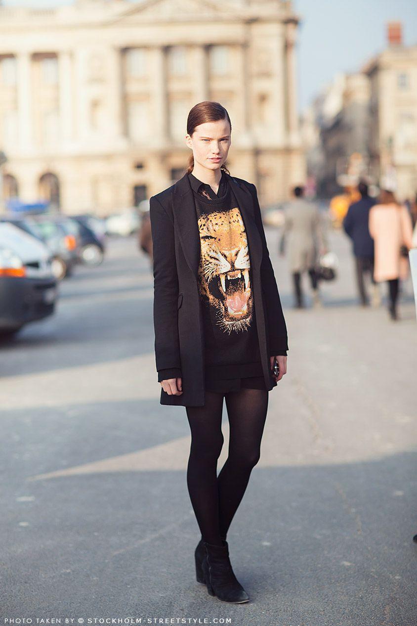 #Animal Print tee - chic #streetstyle
