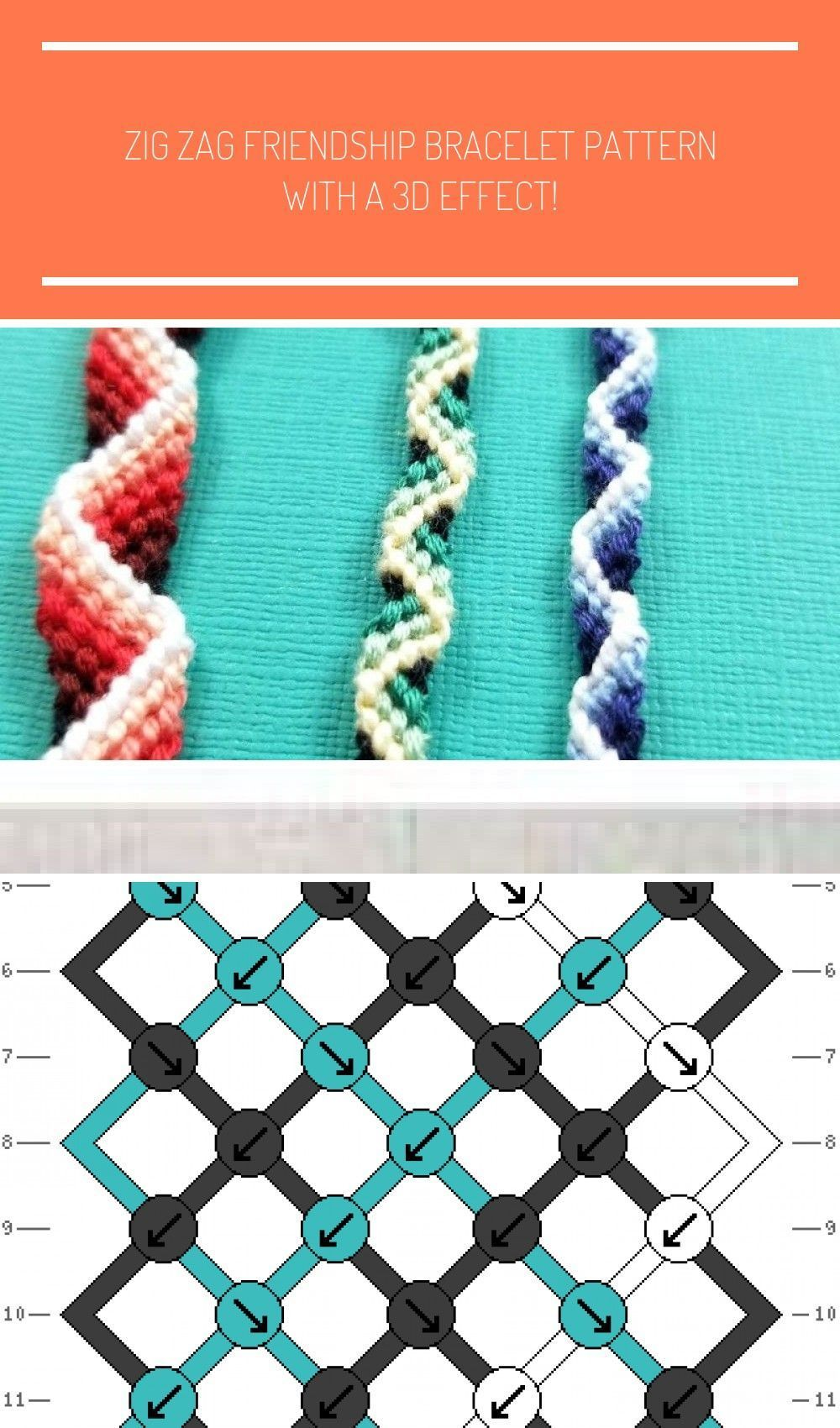 Zig Zag Friendship Bracelet Pattern With A 3d Effect Moms And