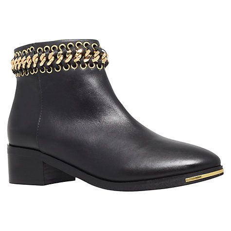 KG by Kurt Geiger pointed block heel ankle boots in black