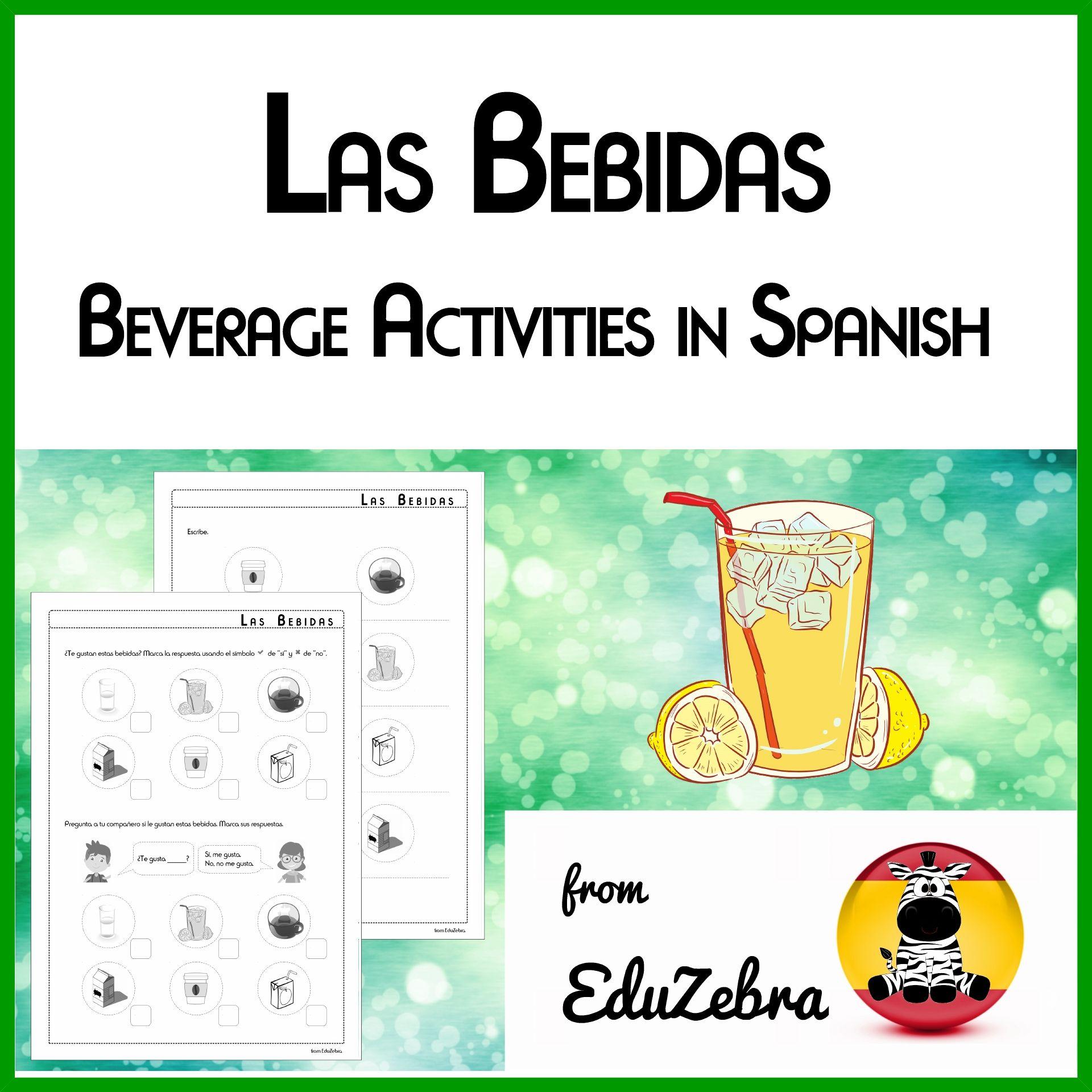 Beverages In Spanish
