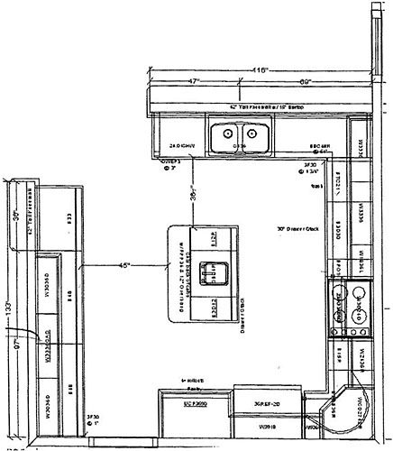 Kitchen With Islands Floor Plans Took My Finished Design To The Realtor To Be Passed Along To Kitchen Island Plans Kitchen Floor Plans Kitchen Island Design