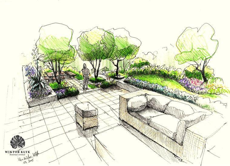 Terrace Garden Gardens Design Landscape Gardening Tuinen Jardin