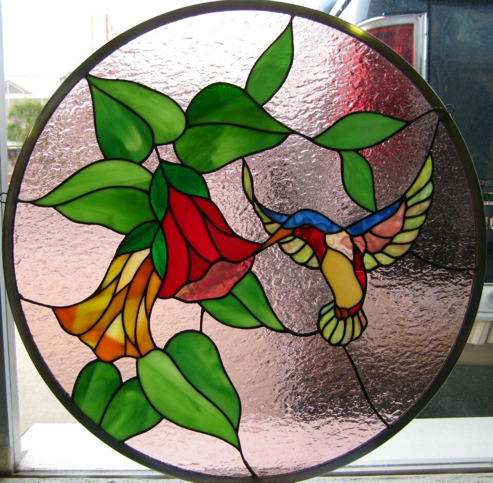 J M Stained Glass North Myrtle Beach Sc Hummingbird Faux Stained Glass Stained Glass Birds Glass Painting Patterns