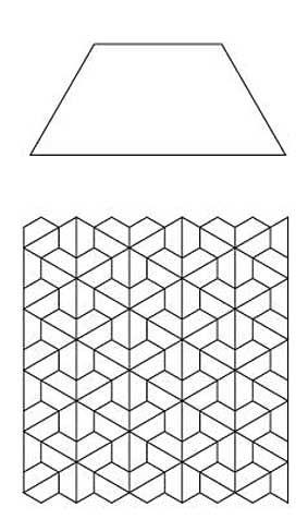 Free English Paper Piecing Half Hex Layout 2 Pattern