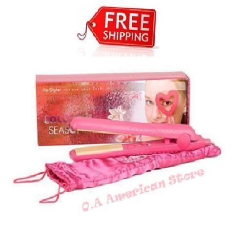 Hot Pink Shinier Flat Women Hair