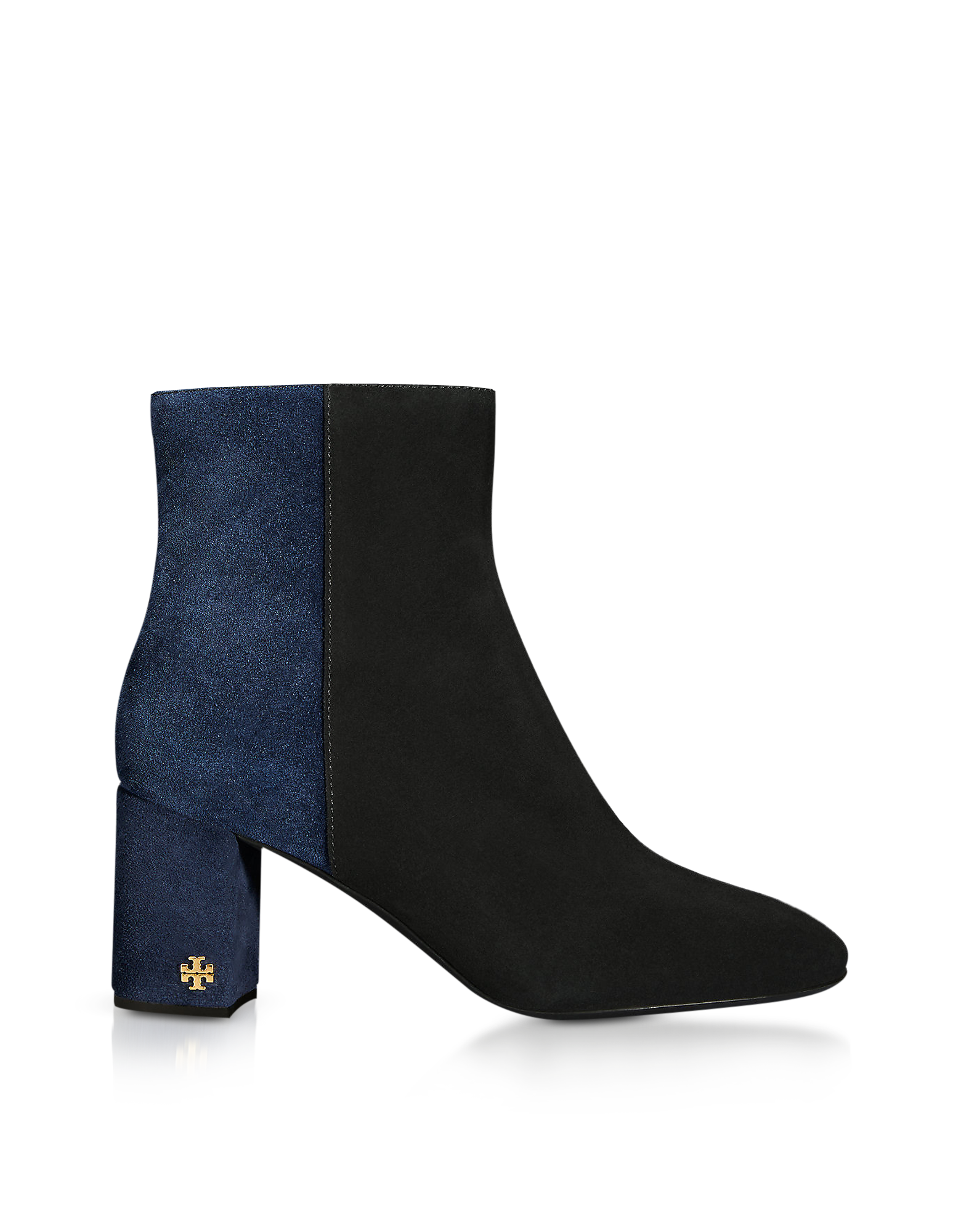 Tory Burch Designer Shoes, Perfect and Navy Brooke 70MM Booties