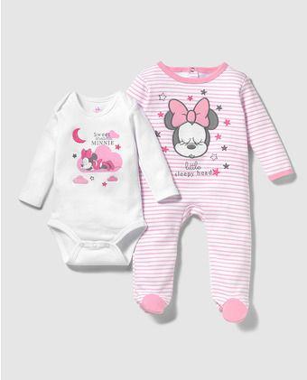 580a9e1c2e Pack de bebé niña Disney con print de Minnie