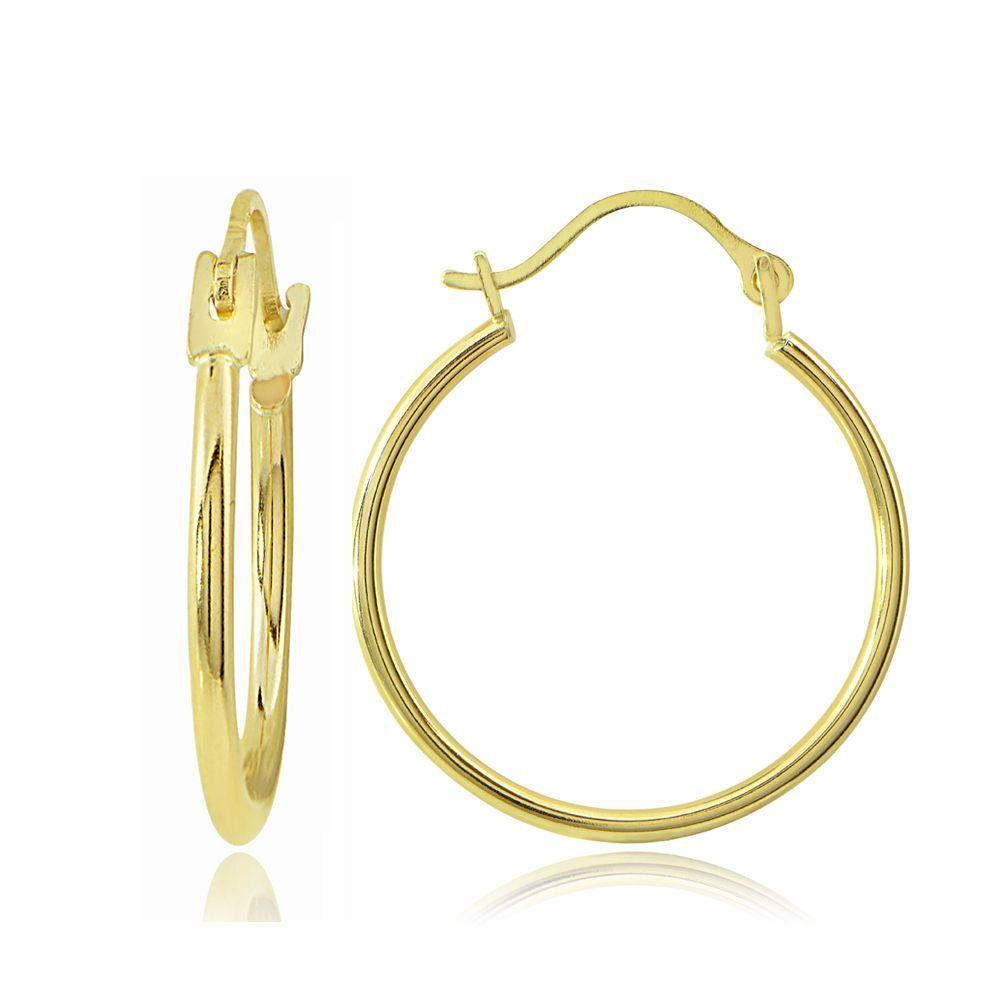 Fine Jewelry 14K Gold 20mm Hoop Earrings Rxk7Jf