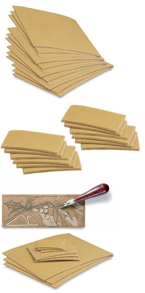 Linoleum 183109 Cut Set 12 Pack Printmaking Carving Sheet Block Printing Sheets Art