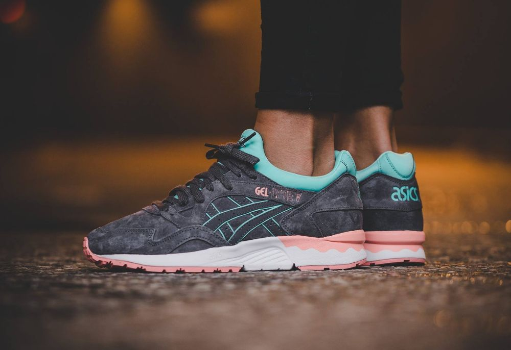 chaussures de sport dd45c 7576a Asics Gel Lyte V 'Core Plus' Whisper Pink & Dark Grey ...