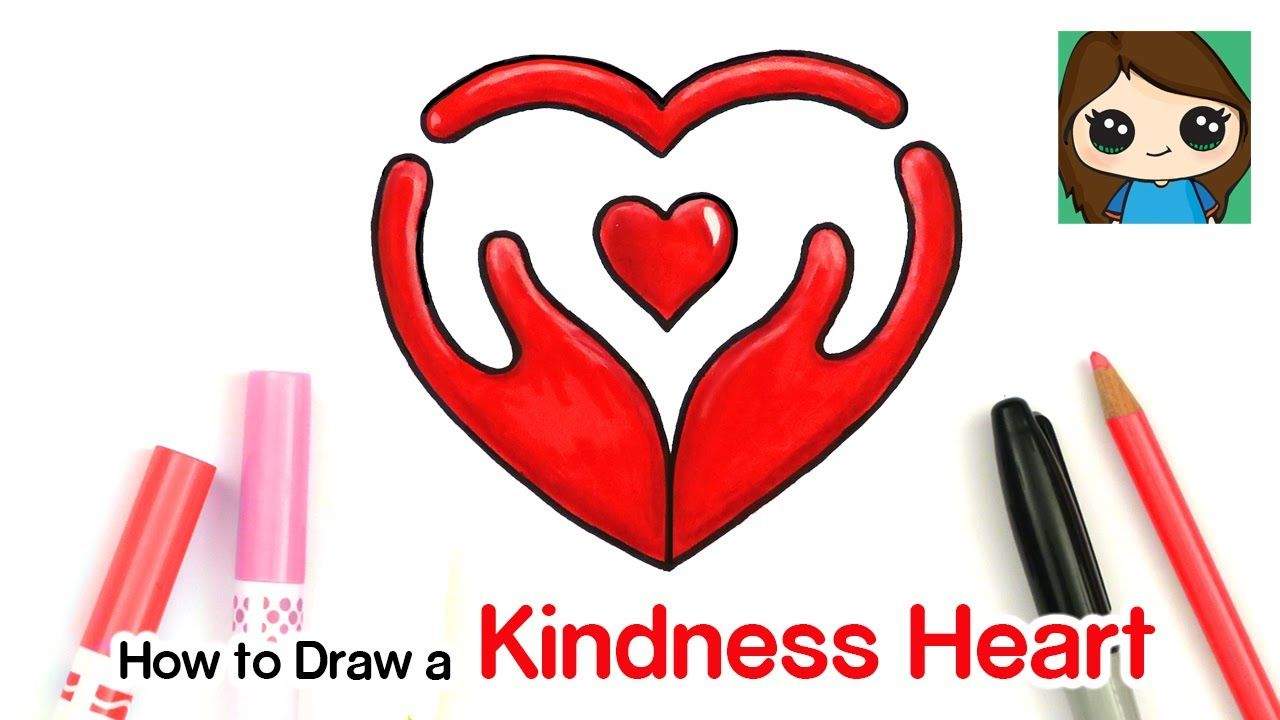 How To Draw A Kindness Heart Symbol 3 Youtube In 2020 Drawings Cute Drawings Drawing Lessons For Kids