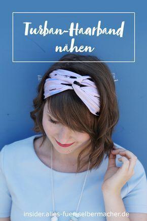 diy tutorial sommerliches turban haarband selber n hen. Black Bedroom Furniture Sets. Home Design Ideas