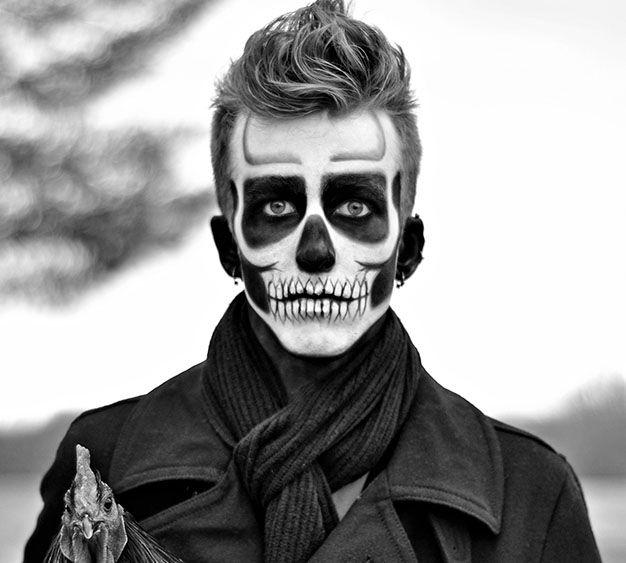 maquillajehalloweenhombrecalaverajpg 626563 pxeles Halloween