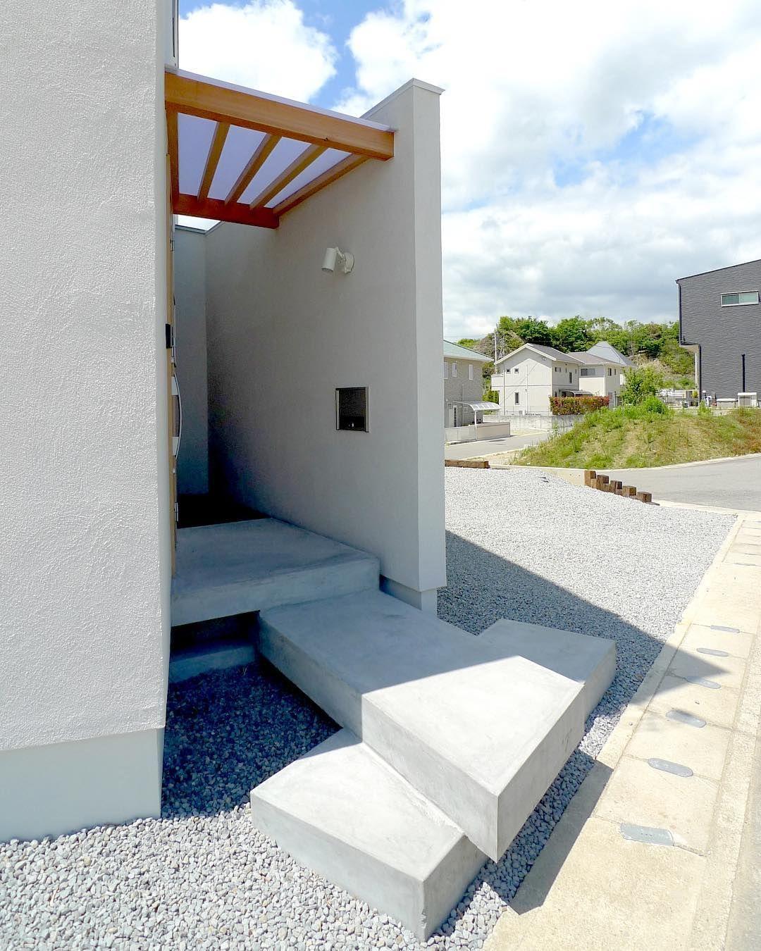 Minimaru Design On Instagram コンクリートを重ねたような形の玄関