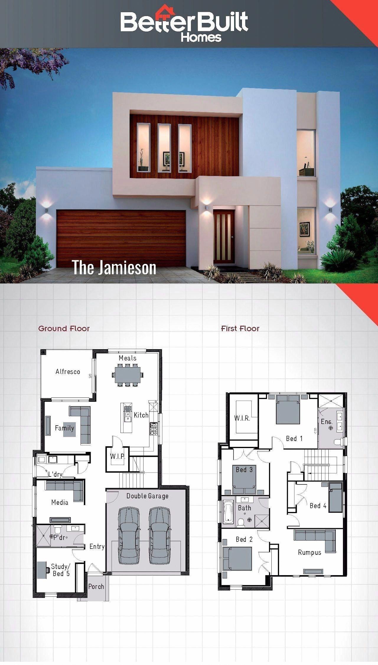 Elegant 4 Bedroom 2 Story House Plans Double Storey House