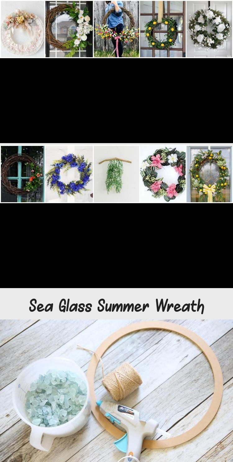 Add a little fun to your home decor with this simple sea glass wreath. A great project for any age. #wreath #decor #summerwreath #kidproject #door #home decor #kidcraft #easywreath #seaglass #bluewreath #prettywreath #easydecor #girlsroom #summercraft #HomeDecorDIYVideosCheap #HomeDecorDIYVideosBedroom #HomeDecorDIYVideosLivingRoom #HomeDecorDIYVideosIdeas #HomeDecorDIYVideosProjects