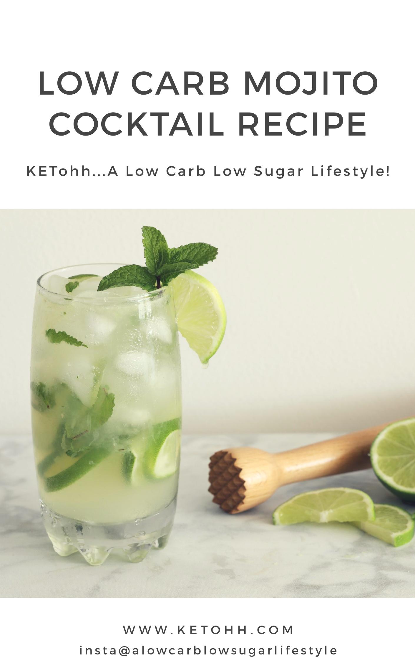 Low Carb Mojito Cocktail Recipe Ketohh Sugar Free Lchf Keto Recipe Recipe Low Carb Cocktails Low Carb Mojito Cocktail Recipe