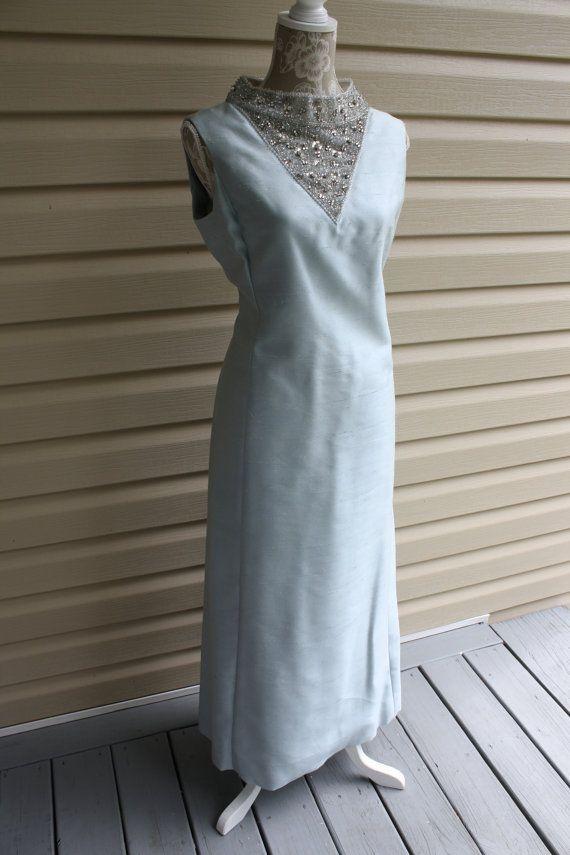 TEE CA New York Elegant Long Blue Designer Evening Gown Long Blue ...