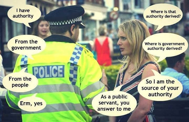 Arguing with police