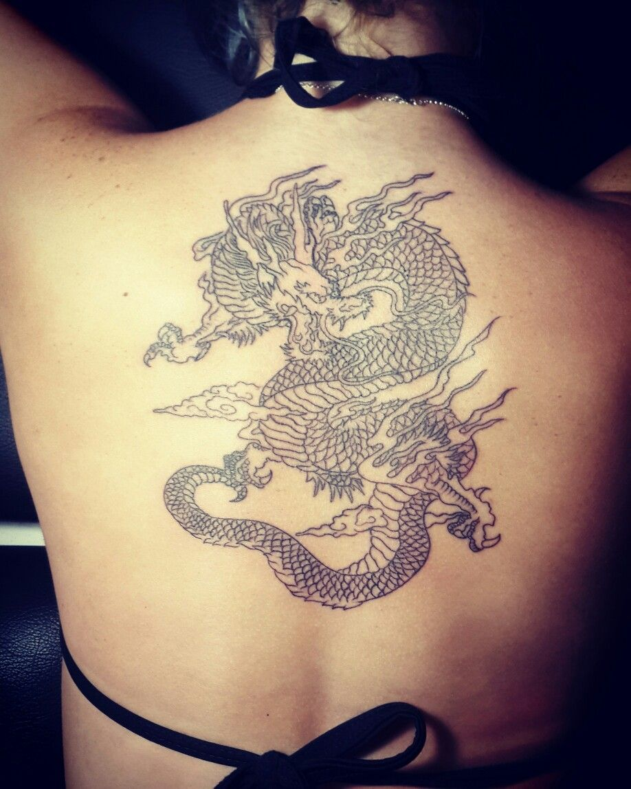Dragon tattoo Small dragon tattoos, Back tattoo