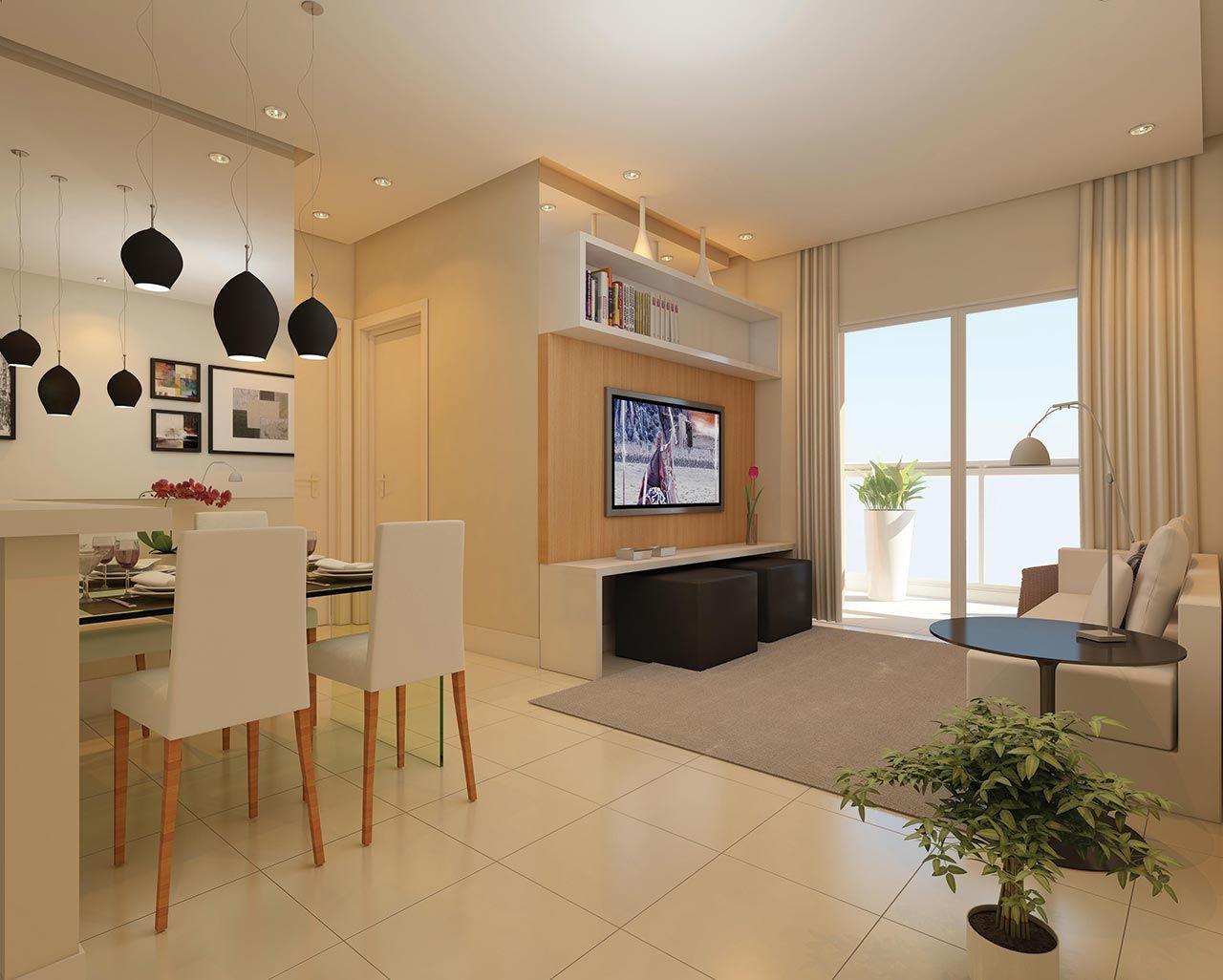Sala De Estar E Jantar Pequena Decora Es Para Casa Pinterest  -> Sala De Estar Apartamento Decoracao