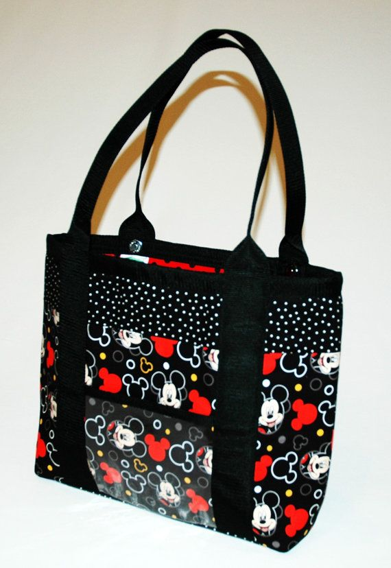 Handmade Fabric Handbag Tote Computer Bag By Twistedthreadsquilts