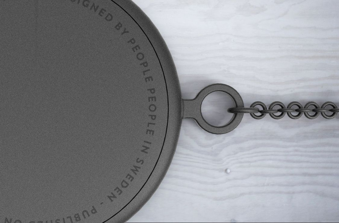 Detail text on back. Pocket Watch Concept by People People