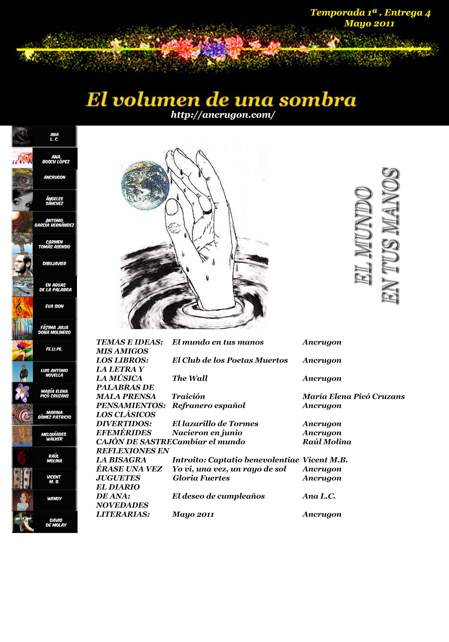 EL MUNDO EN TUS MANOS Nº 4. Temporada 1ª. Mayo 2011